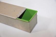INOX 1-delni pekač z ojačanim robom (žička) za toast s pokrovom